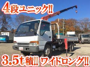 ISUZU Elf Truck (With 4 Steps Of Unic Cranes) KK-NPR72PR 2001 107,395km_1