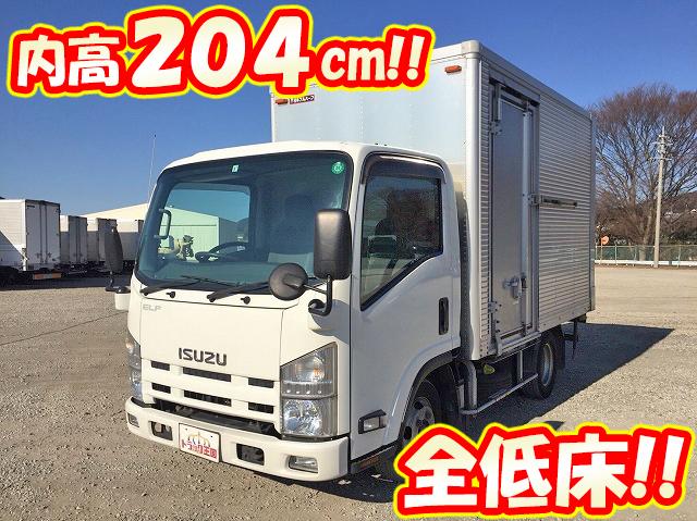 ISUZU Elf Aluminum Van SKG-NLR85AN 2012 209,429km_1