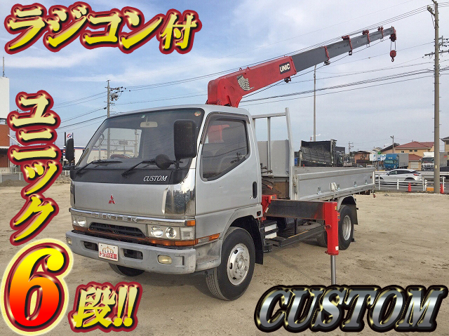 MITSUBISHI FUSO Canter Truck (With 6 Steps Of Unic Cranes) KC-FE648E 1996 150,678km_1