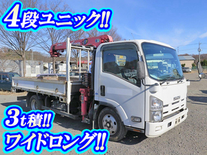 ISUZU Elf Truck (With 4 Steps Of Unic Cranes) BDG-NPR85AR 2007 159,431km_1