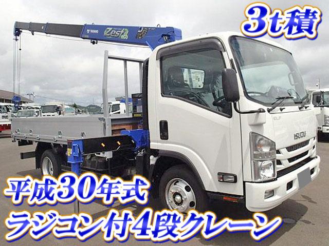 Japanese Used ISUZUElf Truck (With 4 Steps Of Cranes) TRG-NPR85AR
