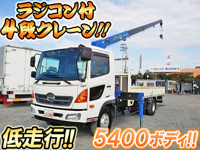 HINO Ranger Truck (With 4 Steps Of Cranes) TKG-FC9JKAP 2013 34,530km_1
