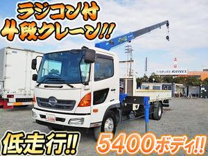 HINO Ranger Truck (With 4 Steps Of Cranes) TKG-FC9JKAP 2013 34,530km_1