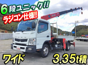 MITSUBISHI FUSO Canter Truck (With 6 Steps Of Unic Cranes) TKG-FEB90 2012 166,330km_1