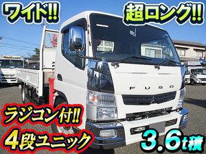 MITSUBISHI FUSO Canter Truck (With 4 Steps Of Unic Cranes) TKG-FEB90 2014 47,632km_1