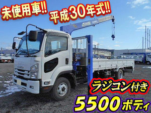 ISUZU Forward Self Loader (With 4 Steps Of Cranes) TKG-FRR90S2 2018 879km_1
