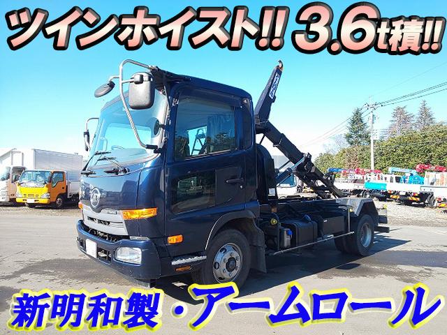 UD TRUCKS Condor Arm Roll Truck TKG-MK38L 2014 67,127km_1