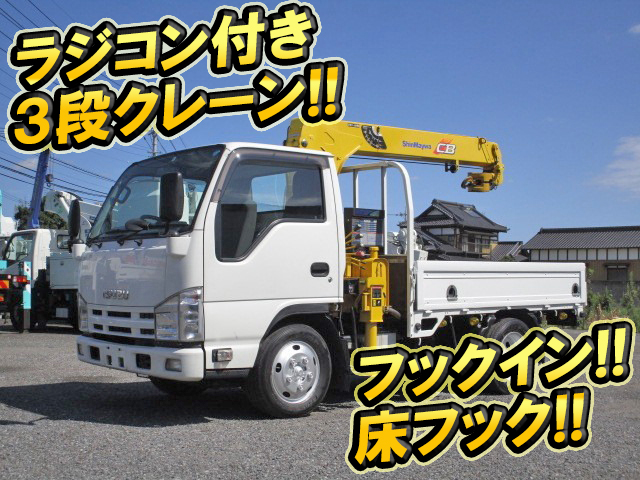 ISUZU Elf Truck (With 3 Steps Of Cranes) BKG-NKR85A 2011 217,835km_1