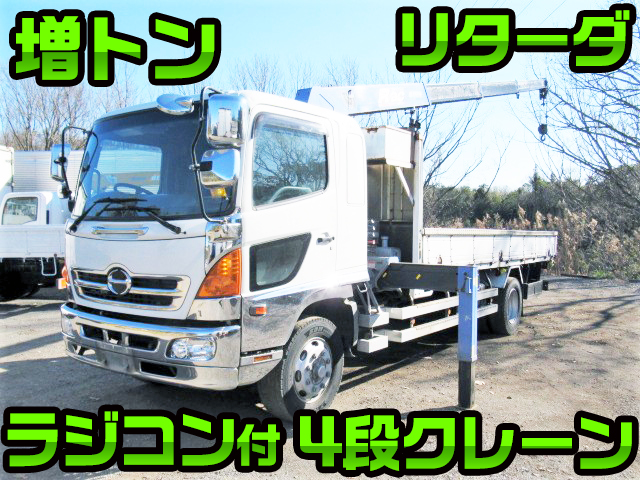 HINO Ranger Truck (With 4 Steps Of Cranes) BDG-FE8JLWA 2007 703,000km_1