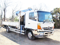 HINO Ranger Truck (With 4 Steps Of Cranes) BDG-FE8JLWA 2007 703,000km_3