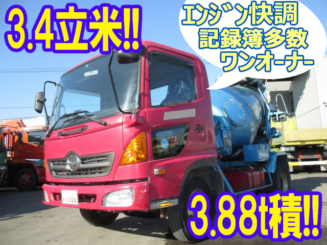 HINO Ranger Mixer Truck KK-FC1JCEA 2002 231,130km_1