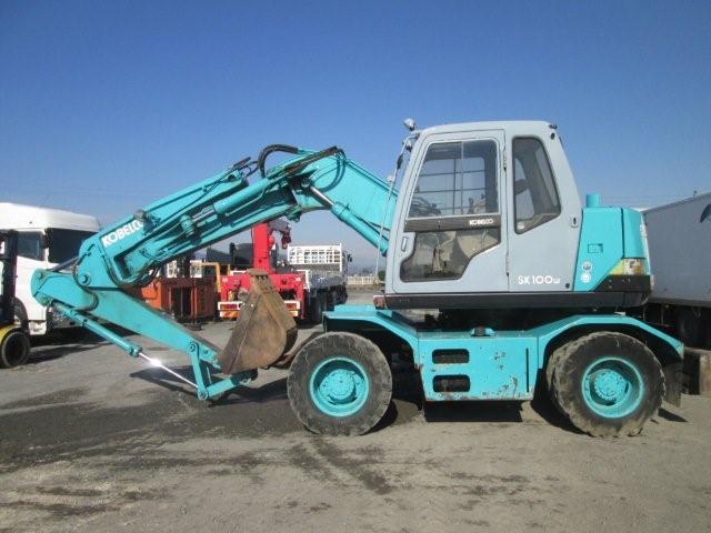 Japanese Used KOBELCO Wheel Excavator SK100W 1997 for Sale