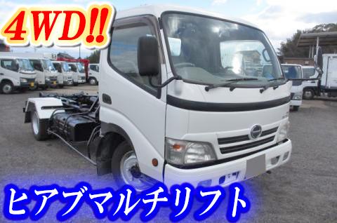 HINO Dutro Container Carrier Truck BDG-XZU488M 2007 114,000km_1