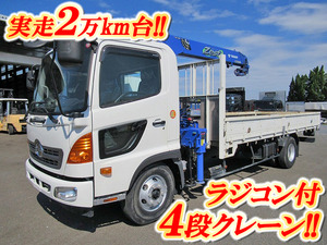 HINO Ranger Truck (With 4 Steps Of Cranes) TKG-FC9JKAP 2013 -_1